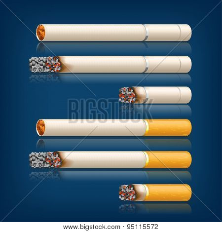 smoking cigarettes set