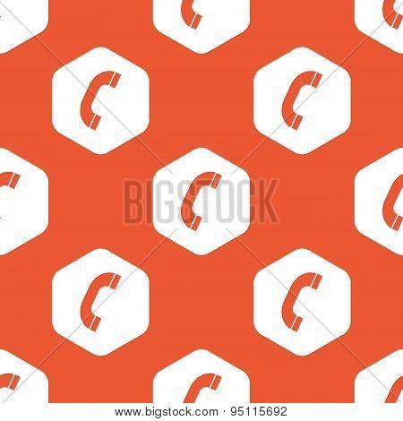 Orange hexagon call pattern