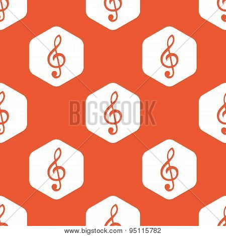 Orange hexagon music pattern