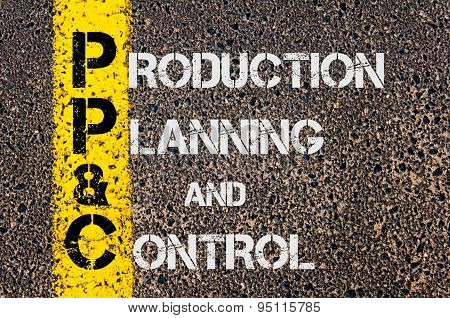 Business Acronym Ppc As Production Planning And Control