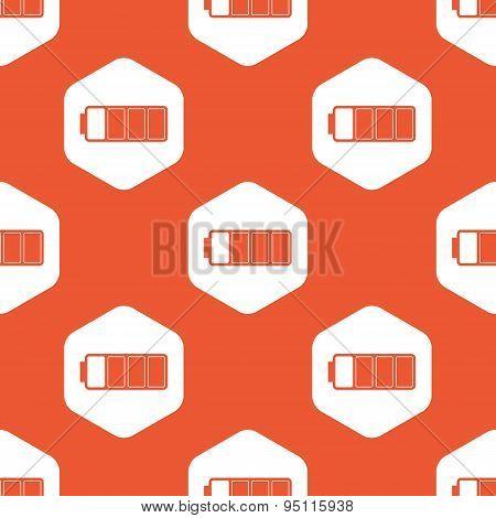 Orange almost full battery pattern
