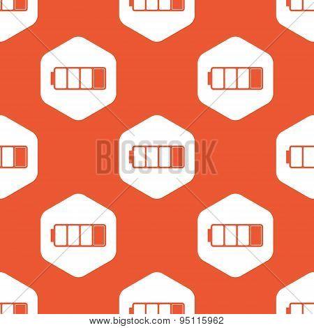 Orange hexagon low battery pattern