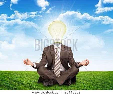 Sitting businessman