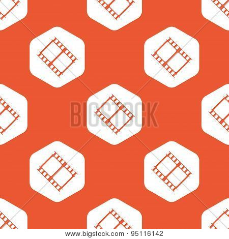 Orange hexagon movie pattern