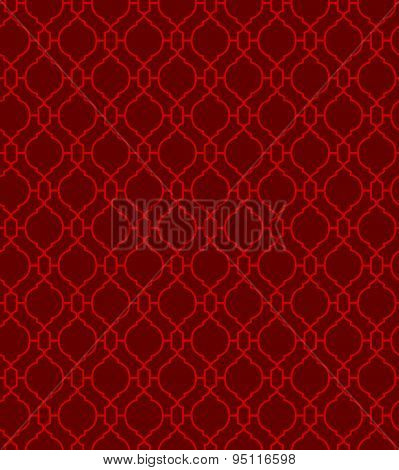 Seamless Chinese style window tracery diamond round pattern background.