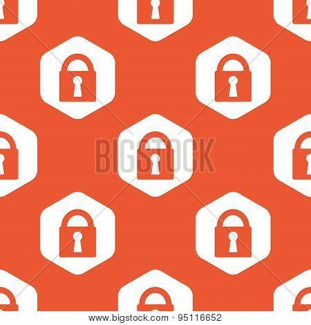 Orange hexagon locked pattern