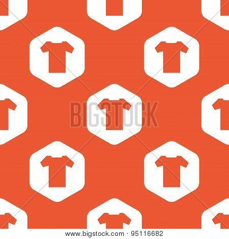 Orange hexagon T-shirt pattern