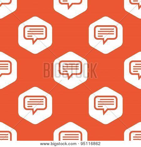 Orange hexagon text message pattern