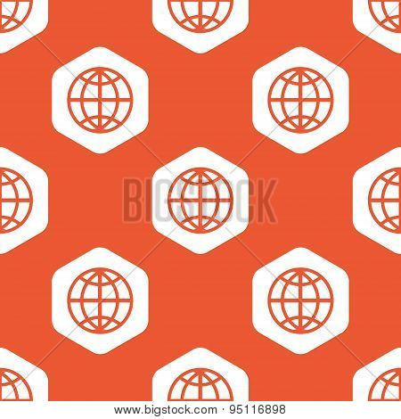 Orange hexagon globe pattern