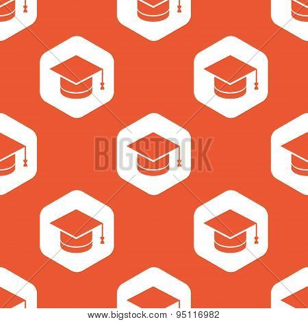 Orange hexagon graduation pattern