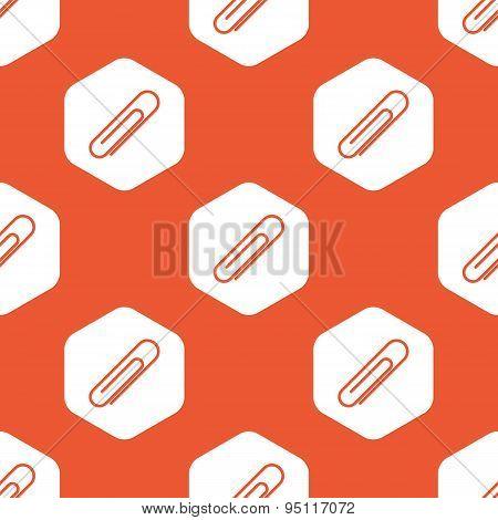 Orange hexagon paperclip pattern