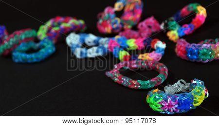 Rainbow Colors Rubber Bands Loom Bracelets