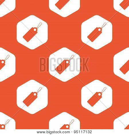 Orange hexagon string tag pattern
