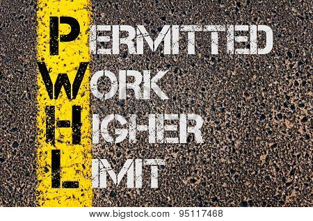 Business Acronym Pwhl As Permitted Work Higher Limit