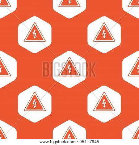 Orange hexagon high voltage pattern