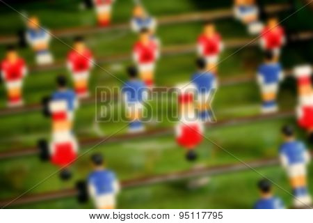 Blur Vintage Foosball, Table Soccer Or Football Kicker Game
