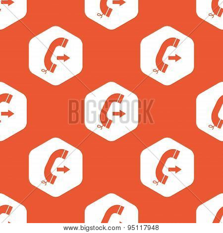 Orange hexagon outgoing call pattern