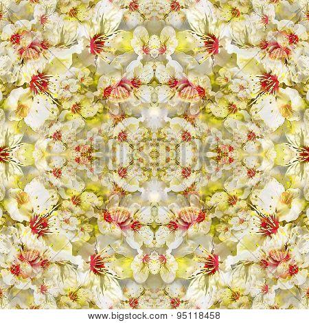 Modern Geometric Floral Seamless Pattern