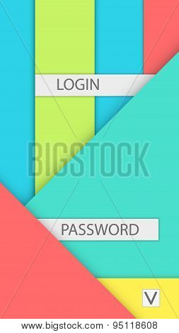 Background for access and login. Modern material design