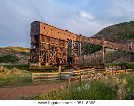 Abandoned coal mine building