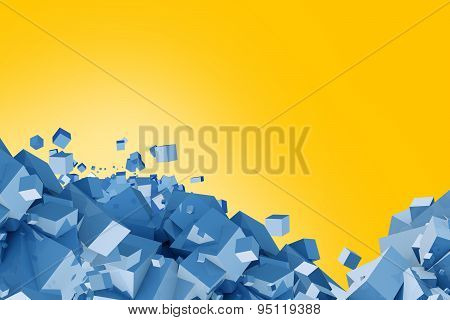 Blue And Yellow Cubes