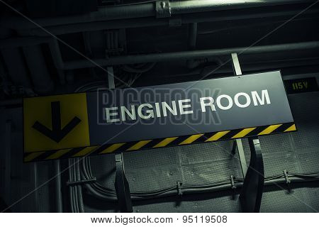 Engine Room Sign