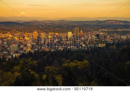 Portland Oregon Sunset Vista