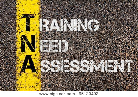Business Acronym Tna As Training Need Assessment