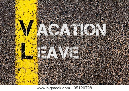 Business Acronym Vl As Vacation Leave