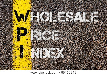 Business Acronym Wpi As Wholesale Price Index