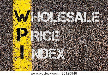 Business Acronym Wpi As Wholesale Price Index