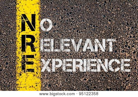 Business Acronym Nre As No Relevant Experience