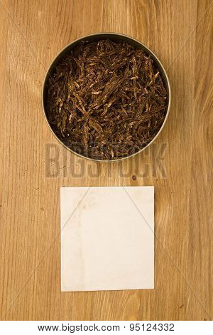 Tobacco For Pipe In The Tin Box