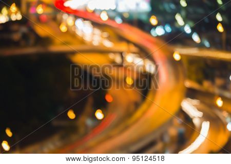 Abstract bokeh background city road intersection