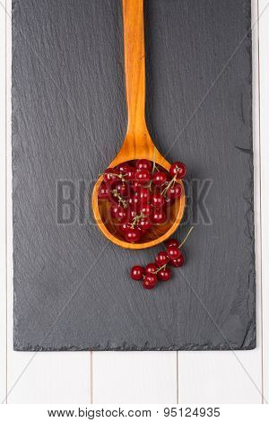 Currants In A Wooden Spoon