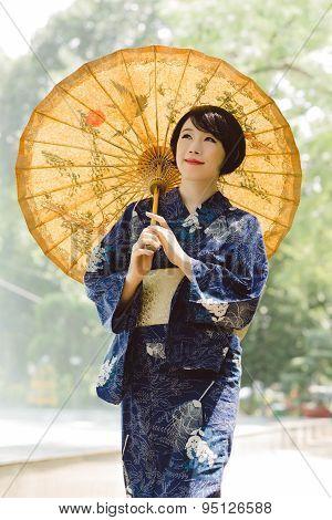 Girl In Yukata Dress
