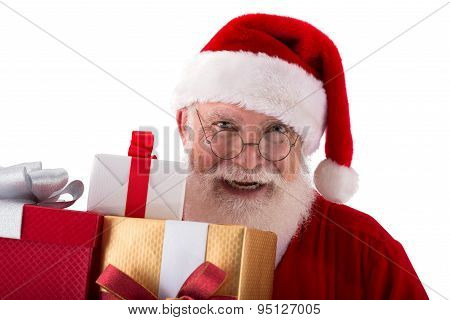 Holding Christmas Presents