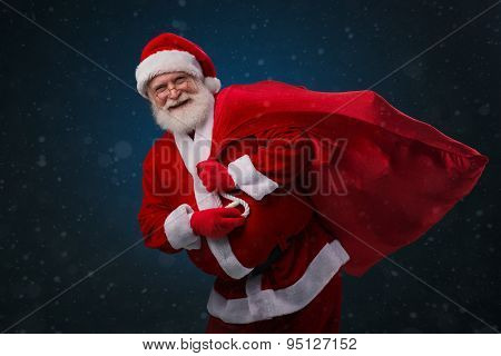 Santa Claus With Huge Sack
