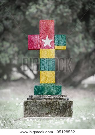 Gravestone In The Cemetery - Togo