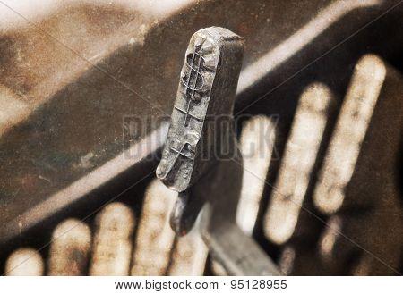 Dollar And Florijn Hammer - Old Manual Typewriter - Warm Filter