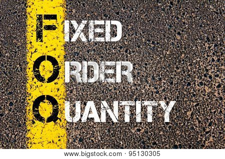 Business Acronym Foq As Fixed Order Quantity