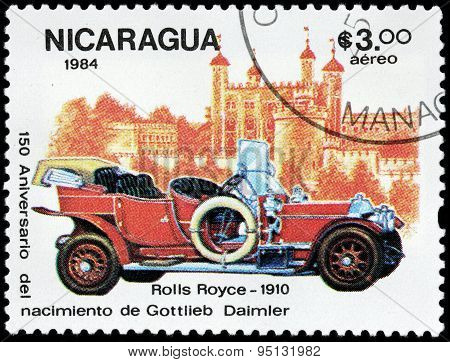 Old Car Stamp