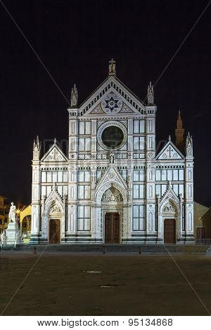 Basilica Of Santa Croce In Evening, Florence, Italy