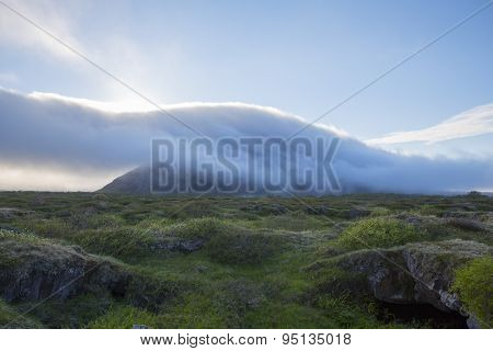Clouds Approaching From The Mountain