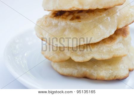 Stack of pancakes, close up