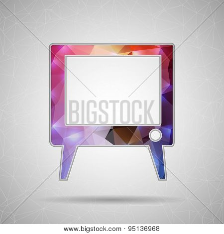 Abstract Creative concept vector icon of TV screen for Web and Mobile Applications isolated on backg