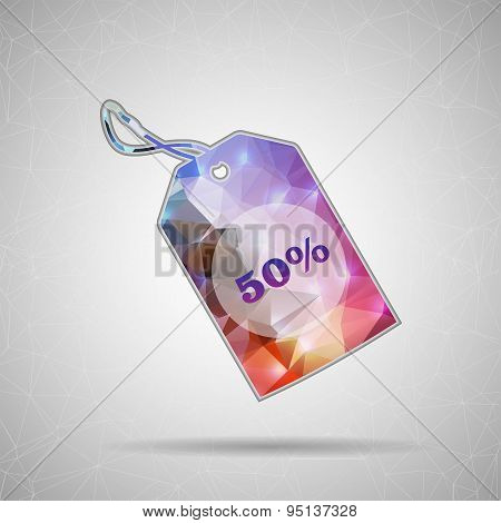 Creative concept vector icon of tag discounted for Web and Mobile Applications isolated on backgroun