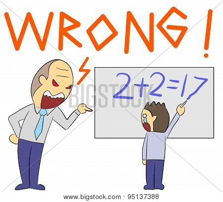 cartoon illustration rage yelling wrong