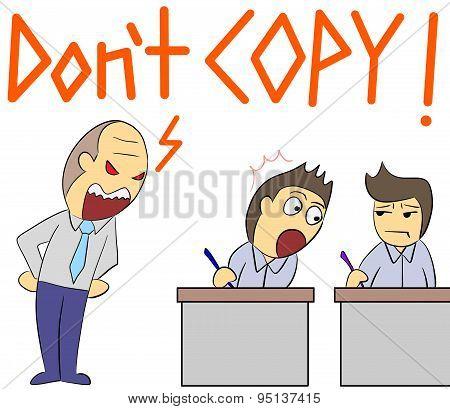 cartoon illustration rage yelling copy