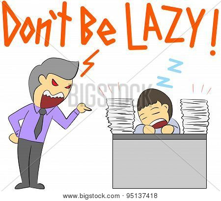 cartoon illustration rage yelling lazy